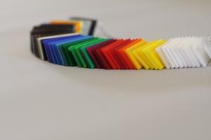 Plexiglas - eine kleine Auswahl möglicher Farbvariantionen