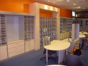 Ausstattung eines Reisebüros
