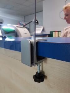 Flexible platzierbare Befestigungsklammer